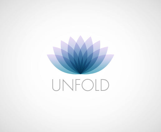Unfold Yoga Logo Design