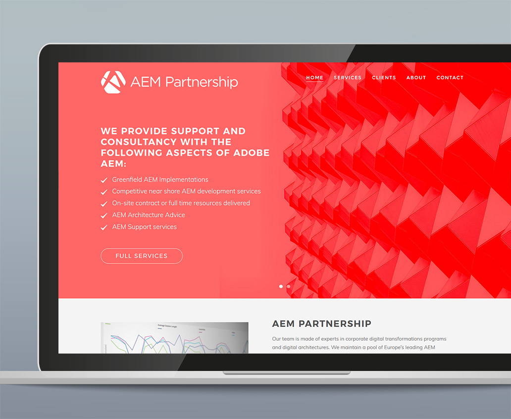 Website Design for Adobe AEM Consultancy